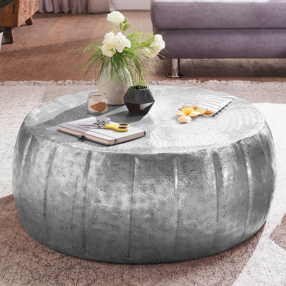 Konferenční stolek Visa, 72 cm, stříbrná