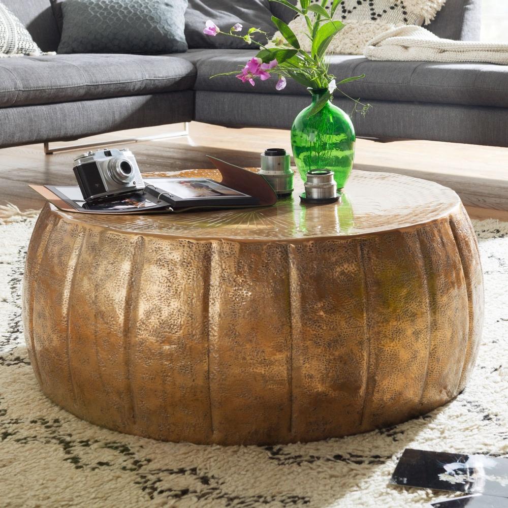 Konferenční stolek Visa, 72 cm, zlatá