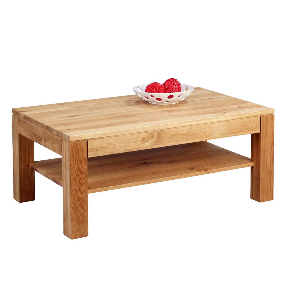 Konferenční stolek z masivu Denis, 105 cm, divoký dub