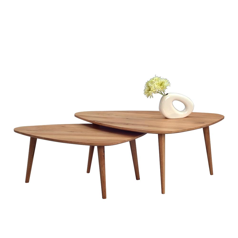 Konferenční stolek z masivu Elen, 110 cm, divoký dub