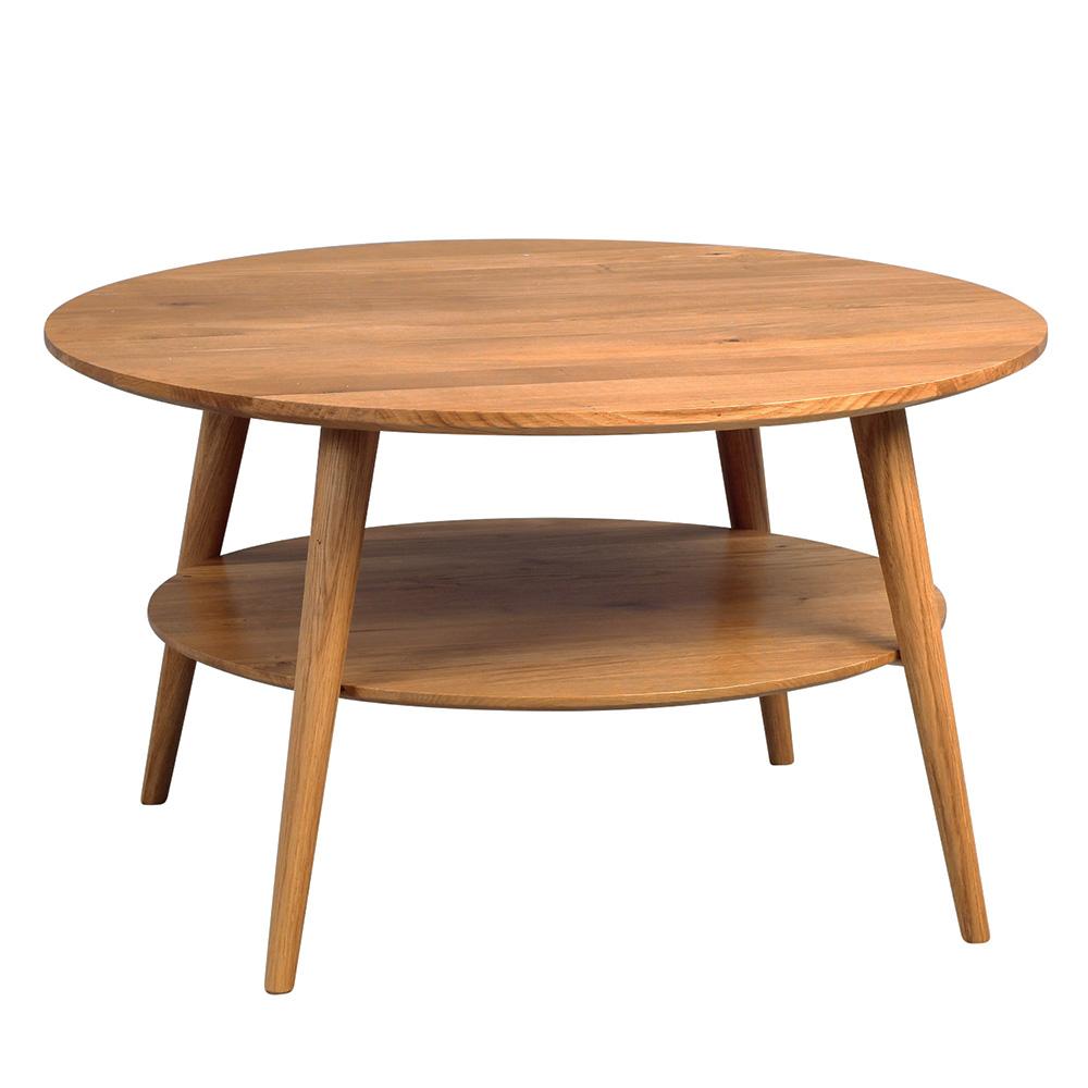 Konferenční stolek z masivu Stella, 80 cm, divoký dub