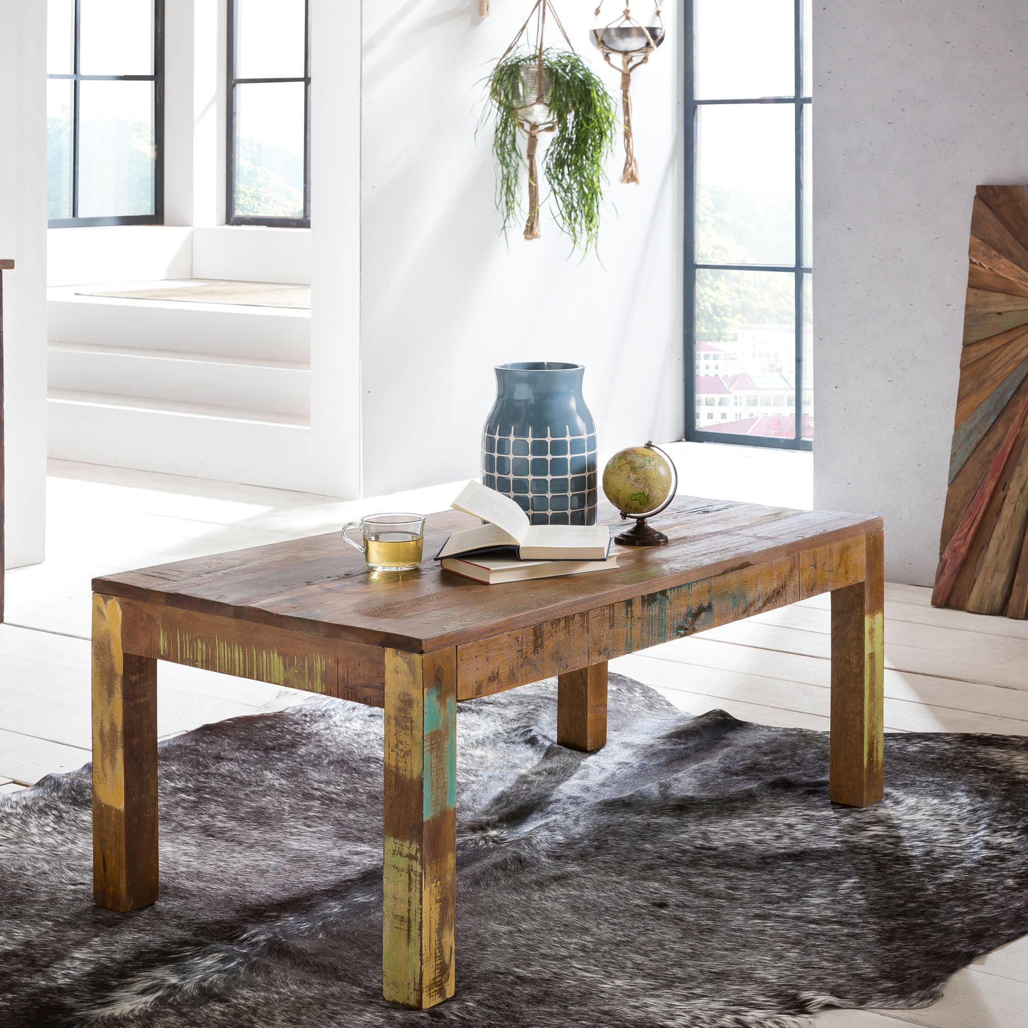 Konferenční stolek z recyklovaného dřeva Kalkuta, 110 cm, mango