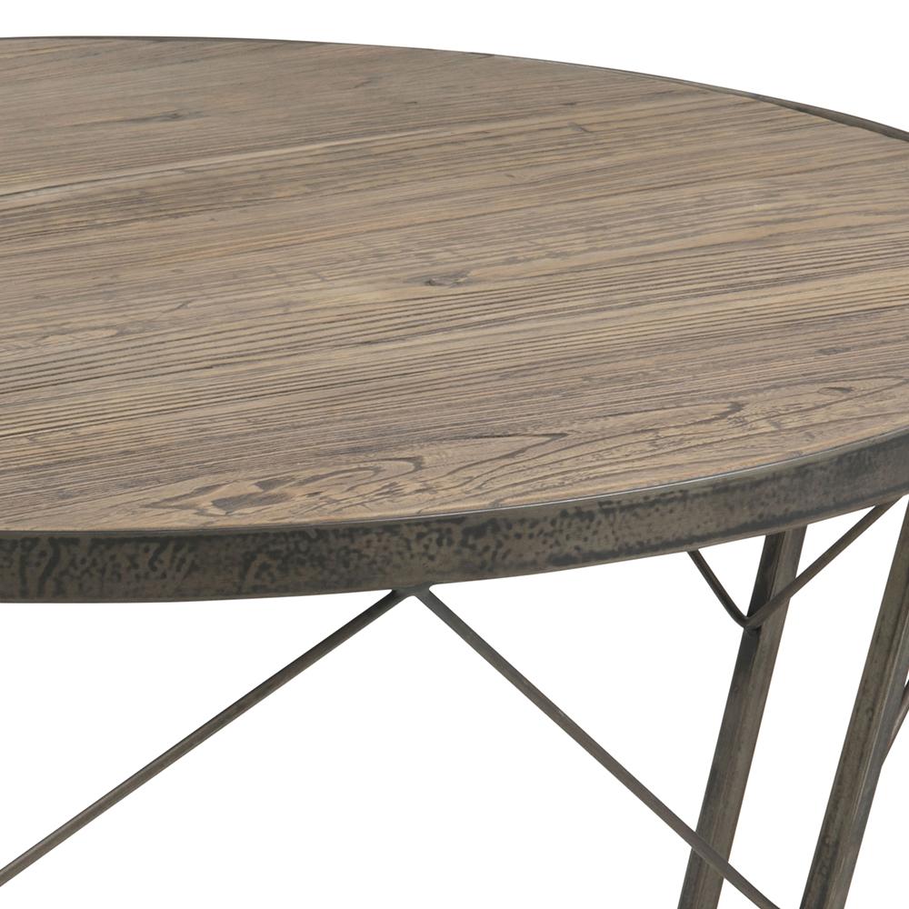 Konferenční stolek z recyklovaného jilmu Carolina, 90 cm