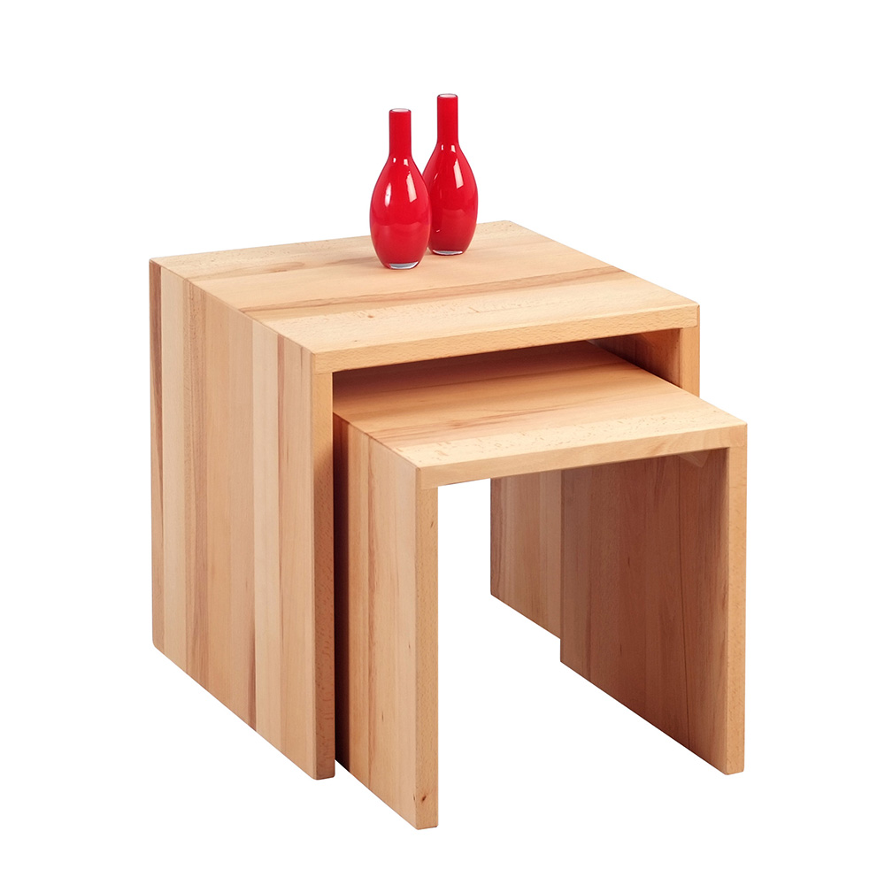 Konferenční stolky Lina, sada 2 ks, buk