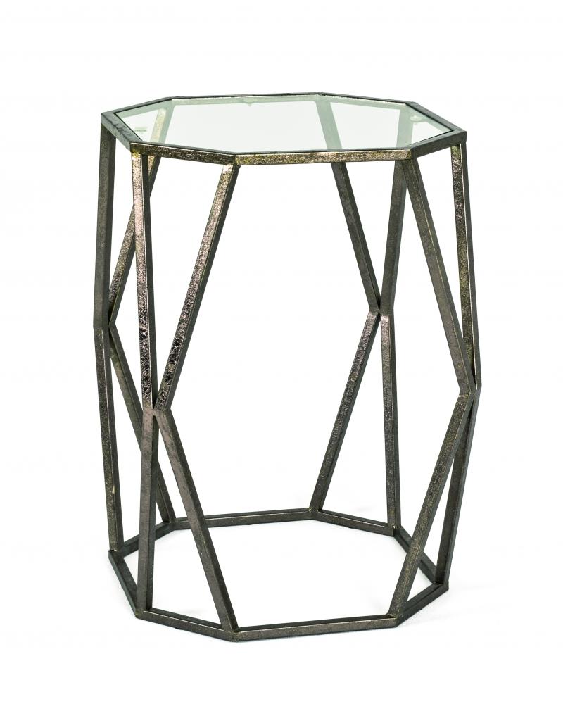 Konferenční stůl Derek, 50 cm, antická bronzová