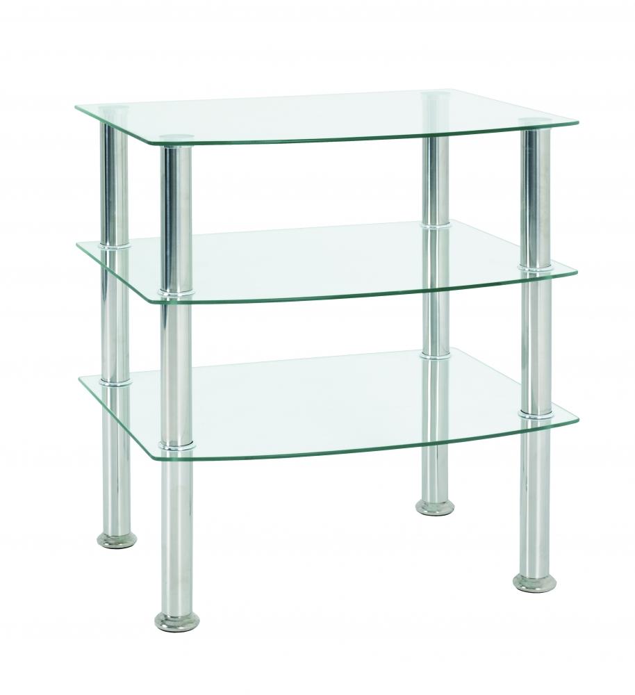 Konferenční stůl Sanford I, 59 cm, nerez
