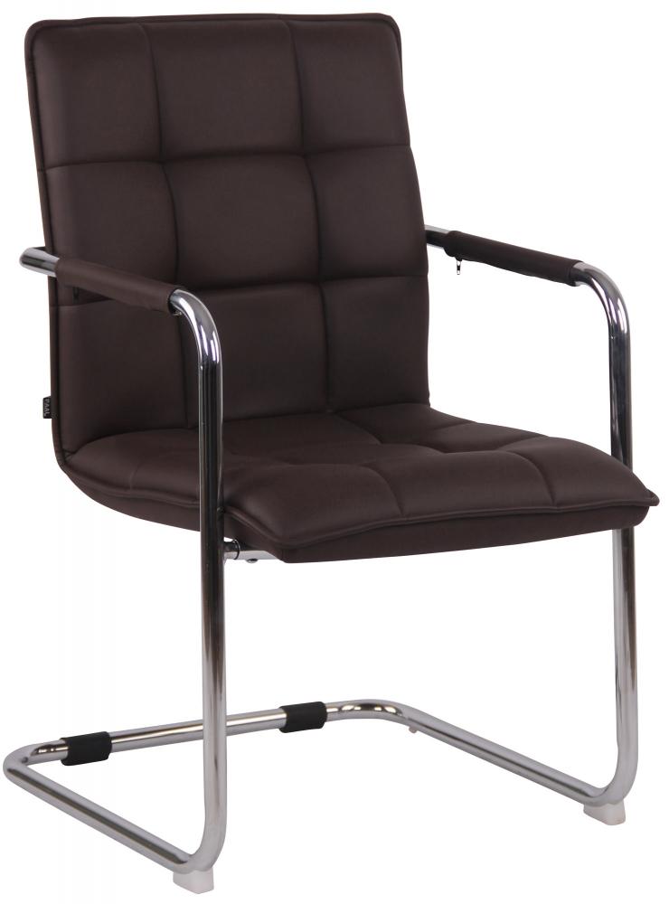 Konferenční židle Gandia, hnědá