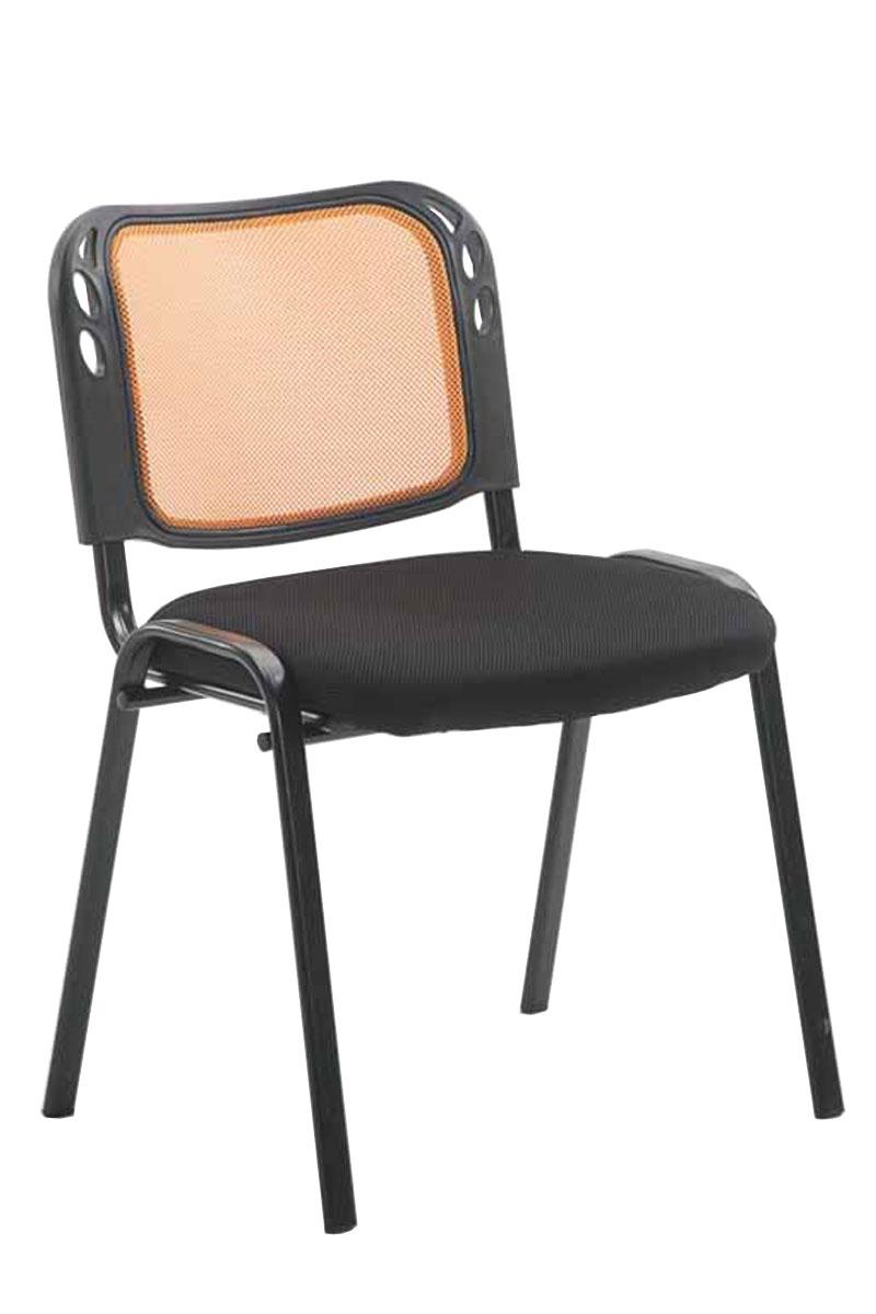 Konferenční židle Michael, černá/oranžová