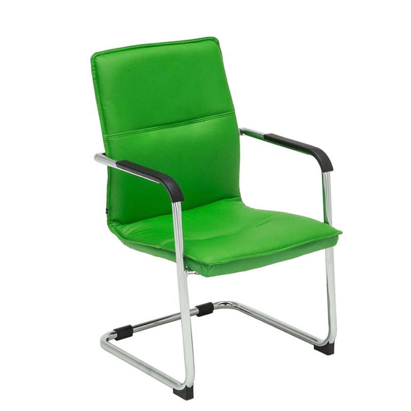Konferenční židle s područkami Hudson zelená