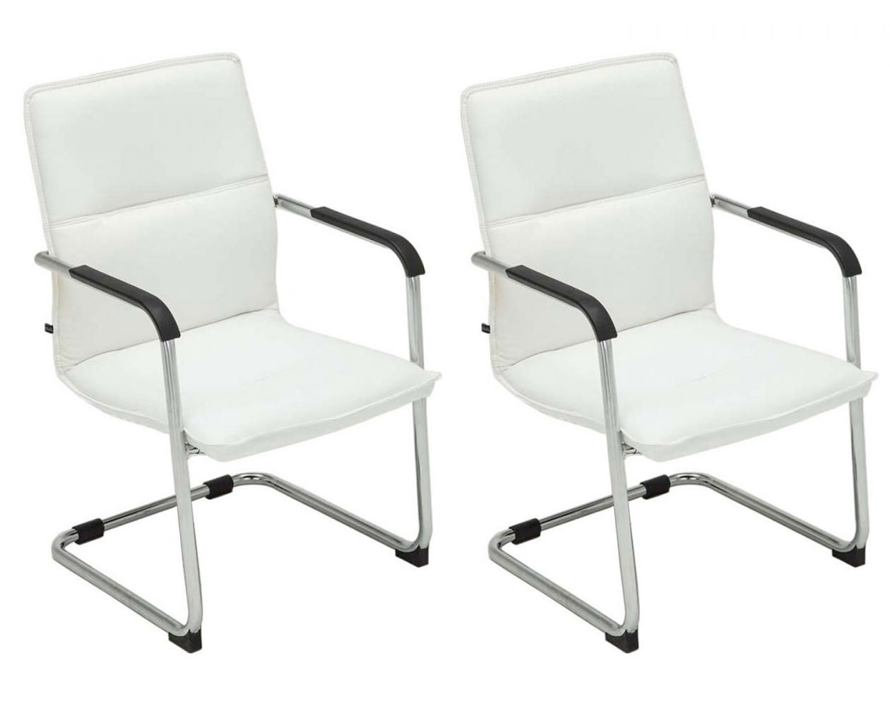 Konferenční židle Seattle (SET 2 ks), bílá