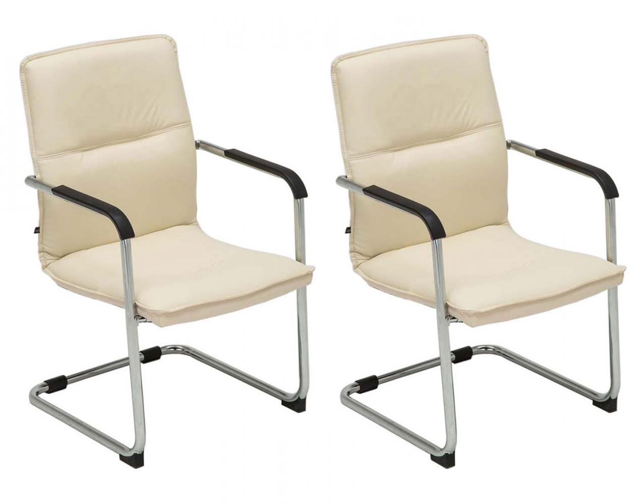 Konferenční židle Seattle (SET 2 ks), krémová