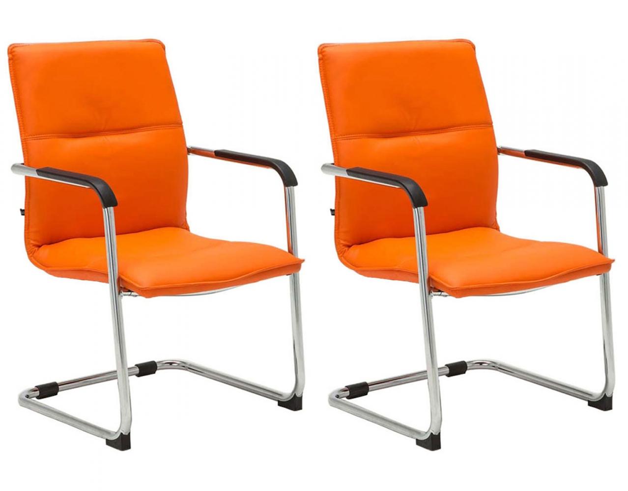 Konferenční židle Seattle (SET 2 ks), oranžová