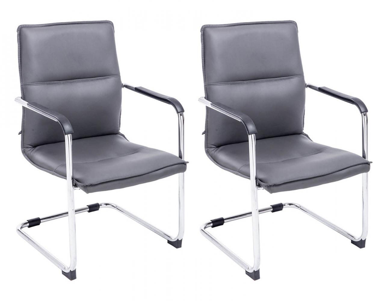 Konferenční židle Seattle (SET 2 ks), šedá