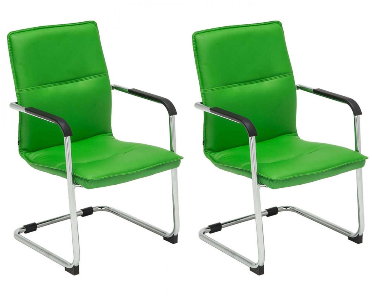Konferenční židle Seattle (SET 2 ks), zelená