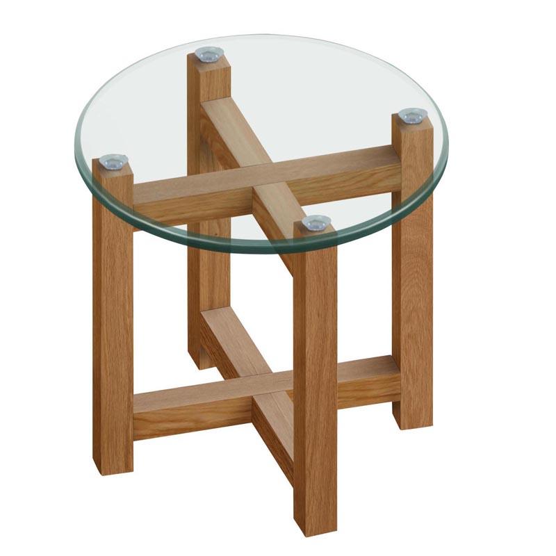 Konferenčný / nočný stolík Amelie, 50 cm, číra