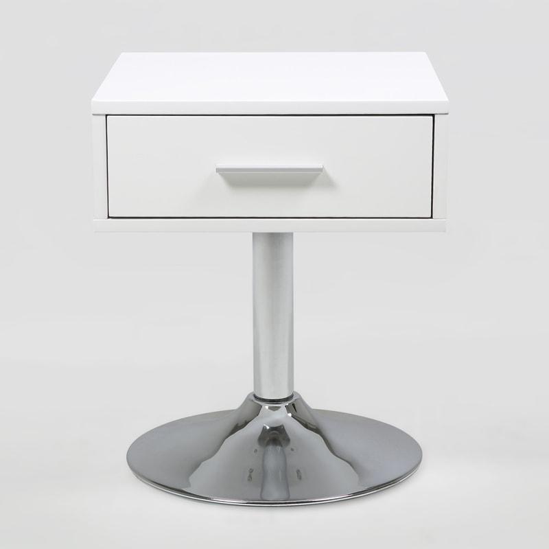 Konferenčný / nočný stolík Boro, 62 cm, biela
