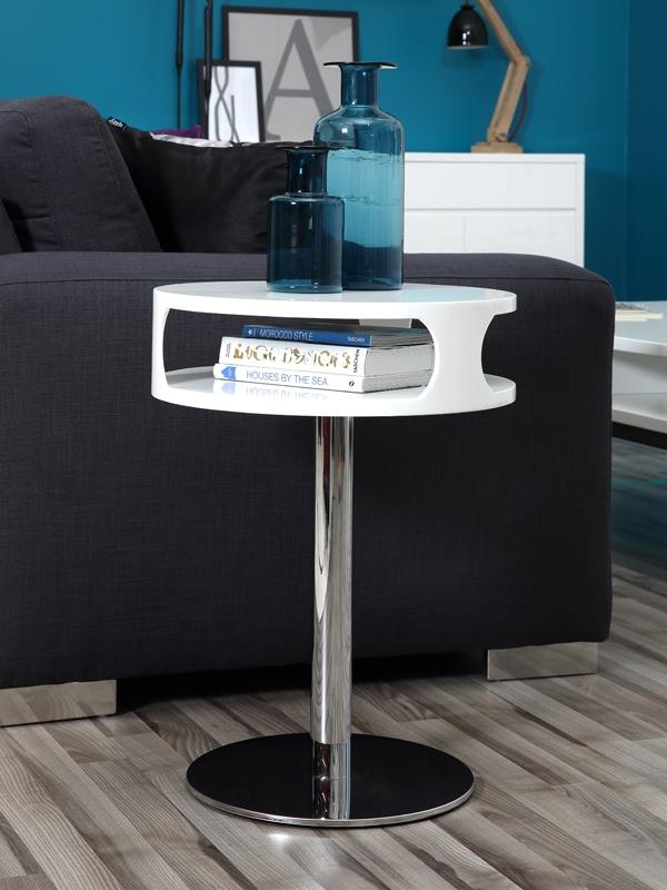 Konferenčný / nočný stolík Scamp, 60 cm, biela