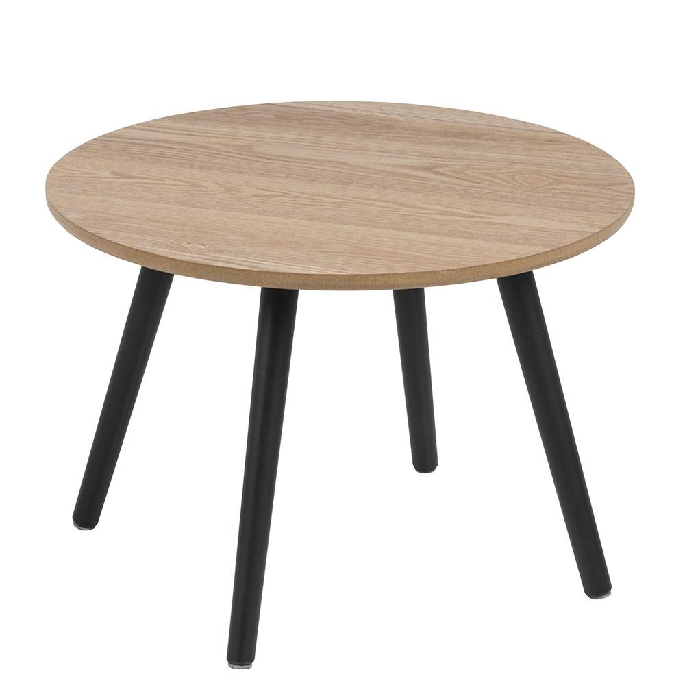 Konferenčný / nočný stolík Stanfield, 50 cm, jaseň / čierna