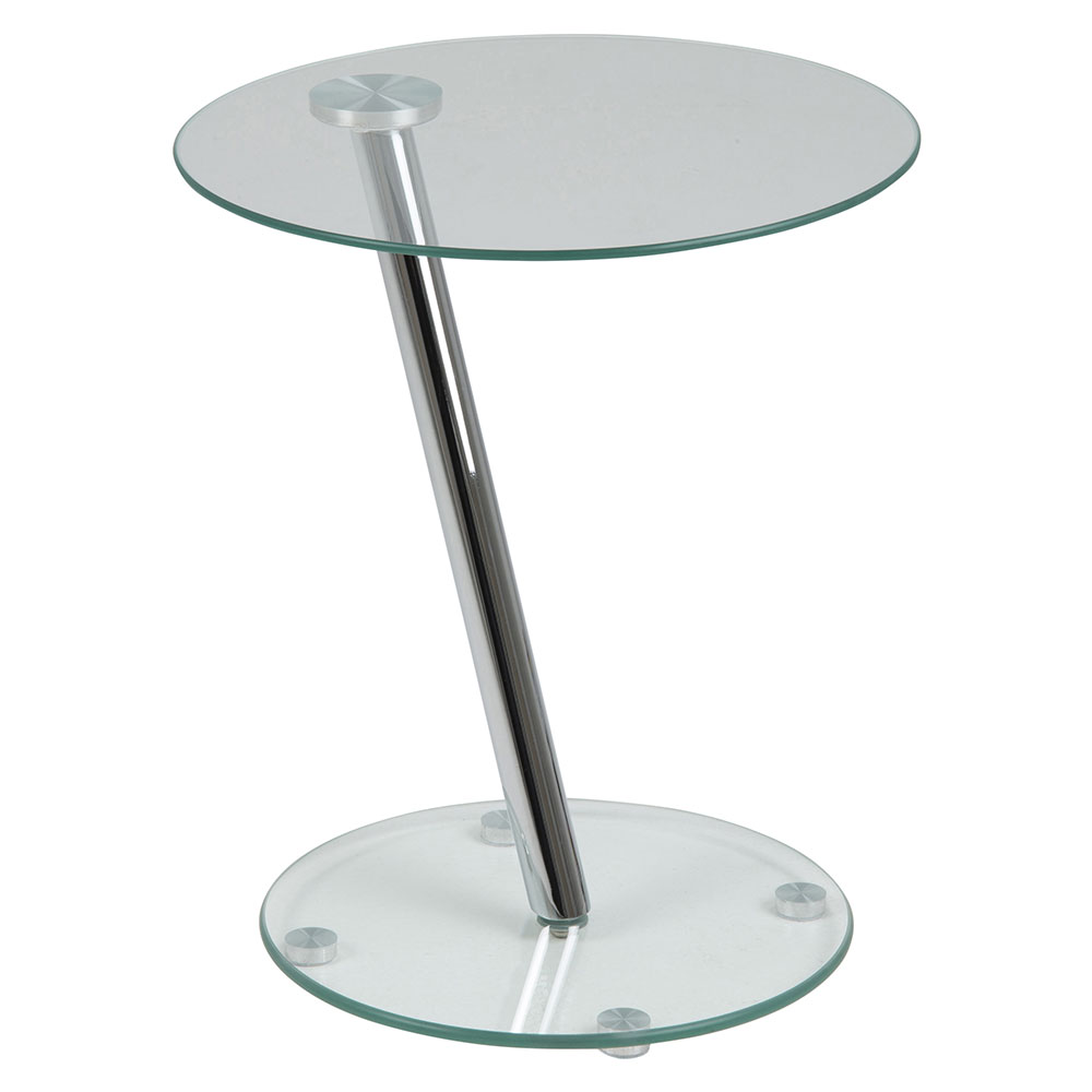 Konferenčný / nočný stolík Trisha, 38 cm, číra, číra