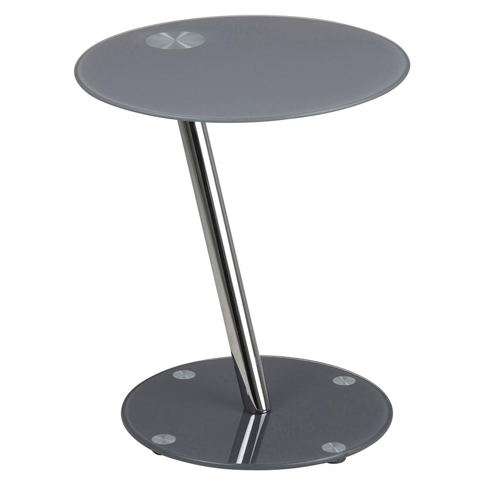 Konferenčný / nočný stolík Trisha, 38 cm, šedá, šedá
