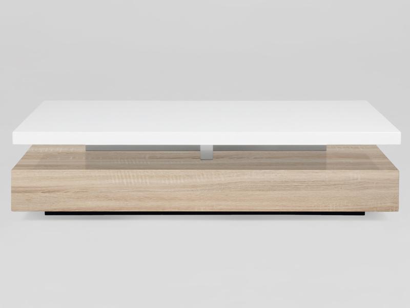 Konferenčný stolík Agate, biela / dub
