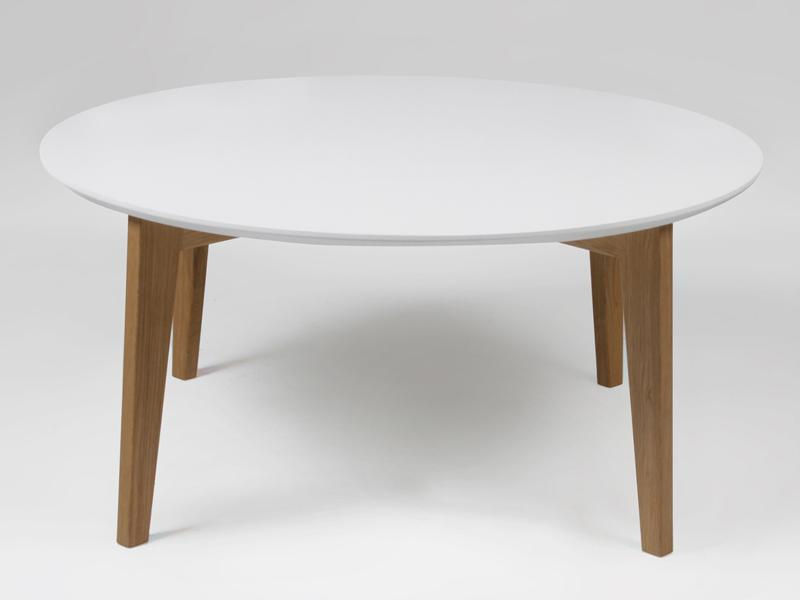 Konferenčný stolík Alvin, biela / dub
