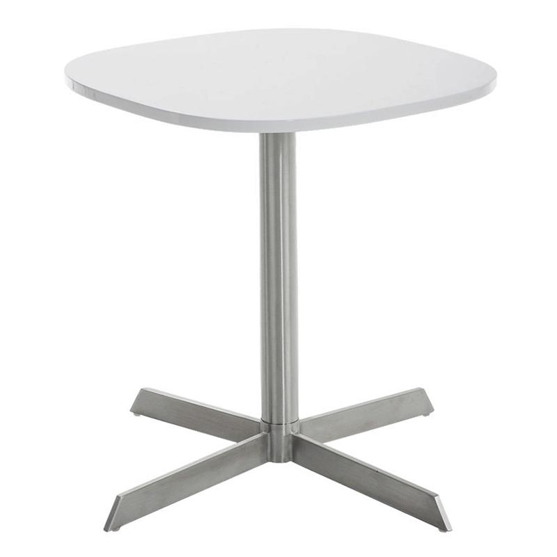 Konferenčný stolík Charlie, 60 cm, biela, biela