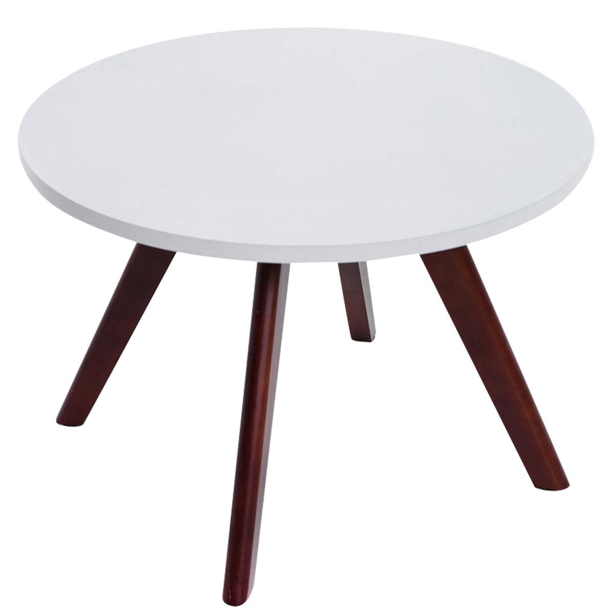 Konferenčný stolík Erik, 60 cm, nohy cappuccino, cappuccino / biela