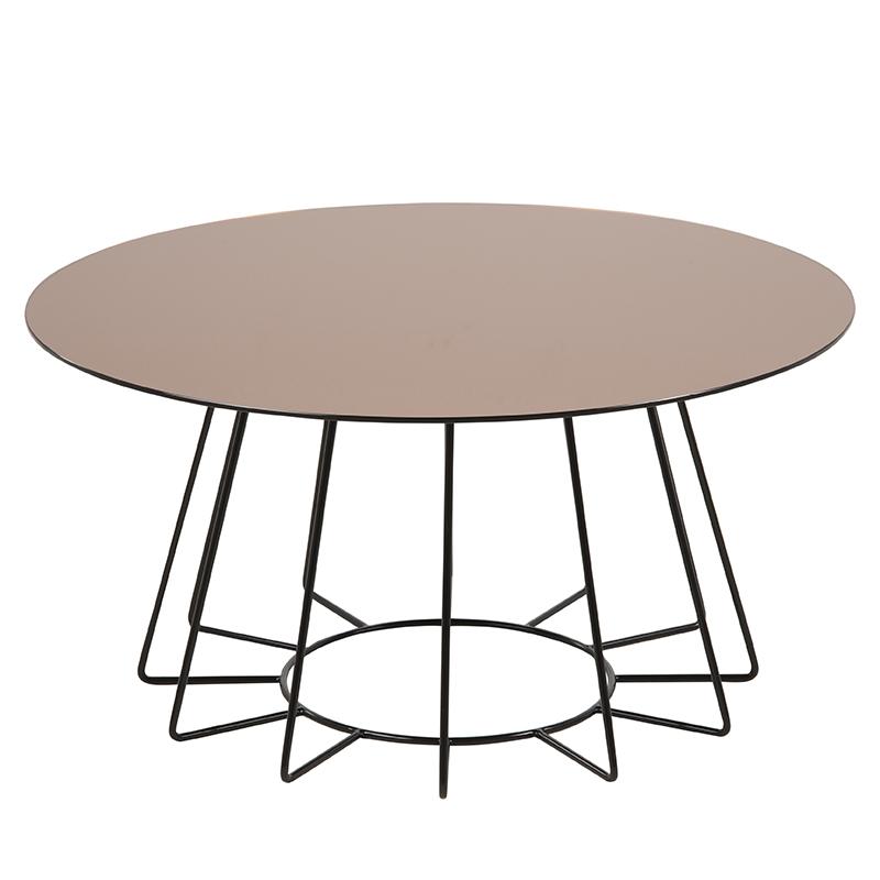Konferenčný stolík Goldy, 80 cm, zlatá, zlatá