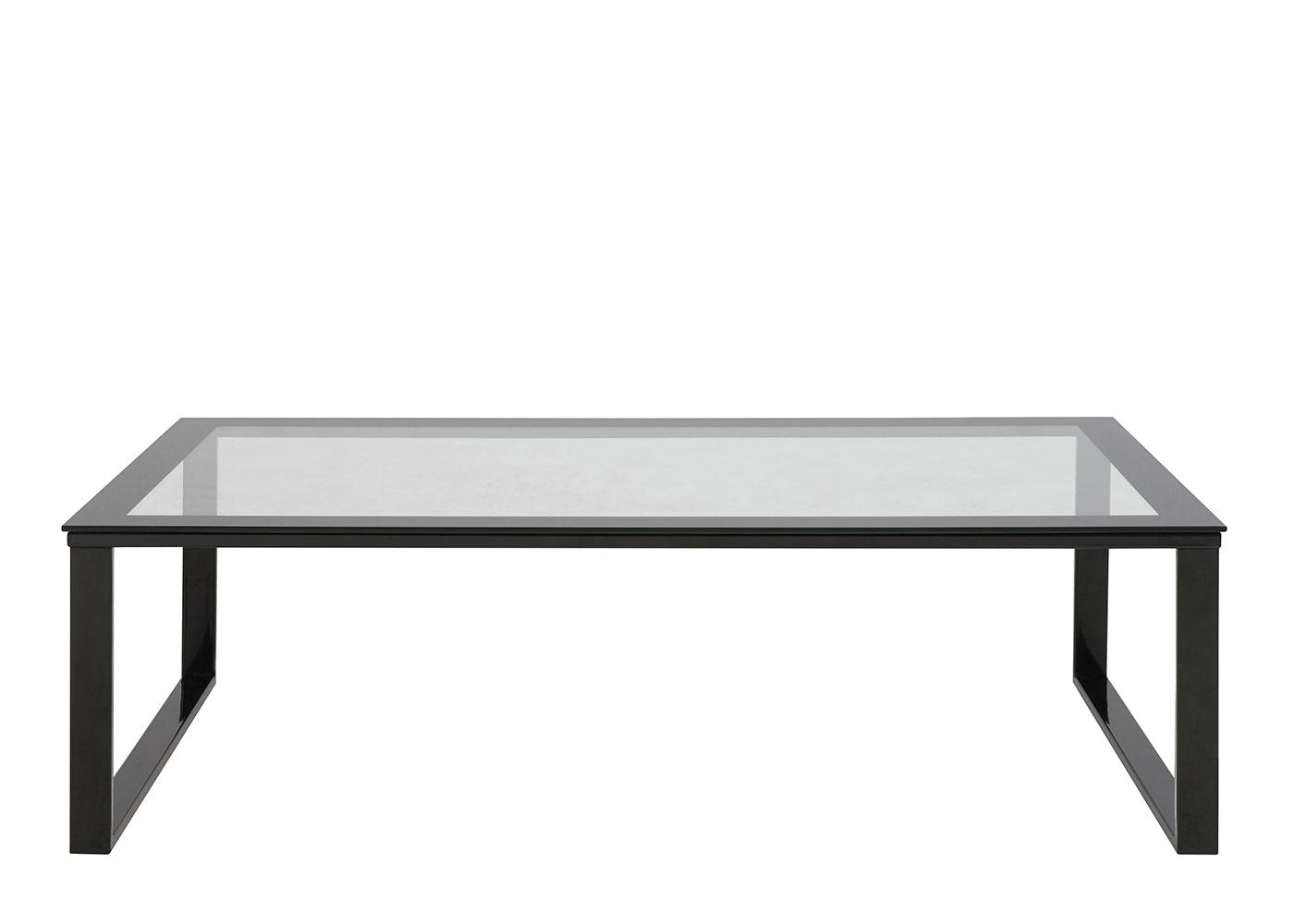 Konferenčný stolík Kalinka, 105 cm, číra / čierna