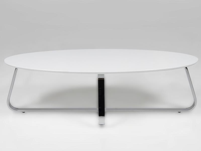 Konferenčný stolík Kamila, 120 cm, biela