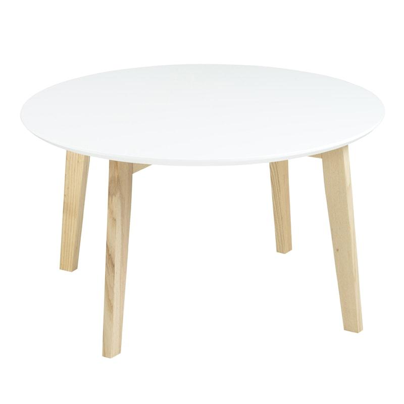 Konferenčný stolík Limona, 80 cm, biela