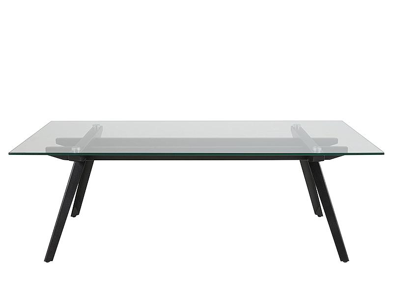 Konferenčný stolík Mayland, 120 cm, číra / čierna
