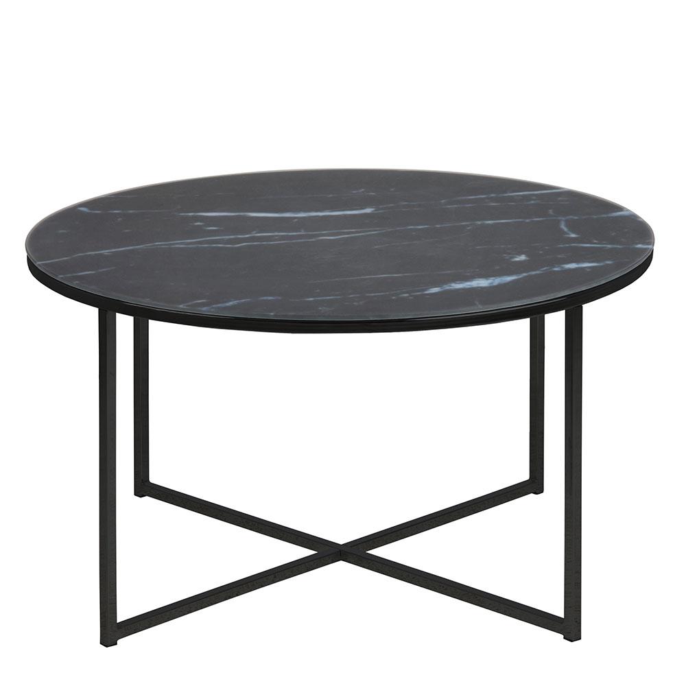 Konferenčný stolík okrúhly Alma, 80 cm, čierna, čierna