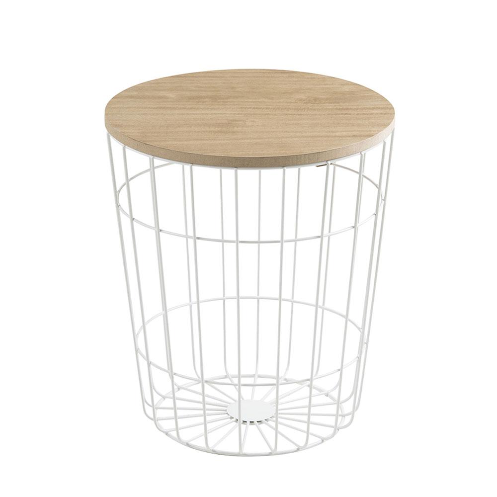 Konferenčný stolík Pavola, 34 cm, biela, biela