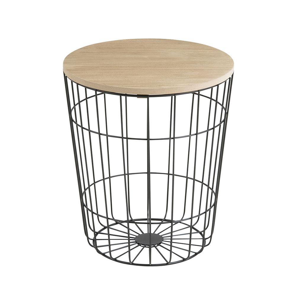 Konferenčný stolík Pavola, 34 cm, čierna, čierna