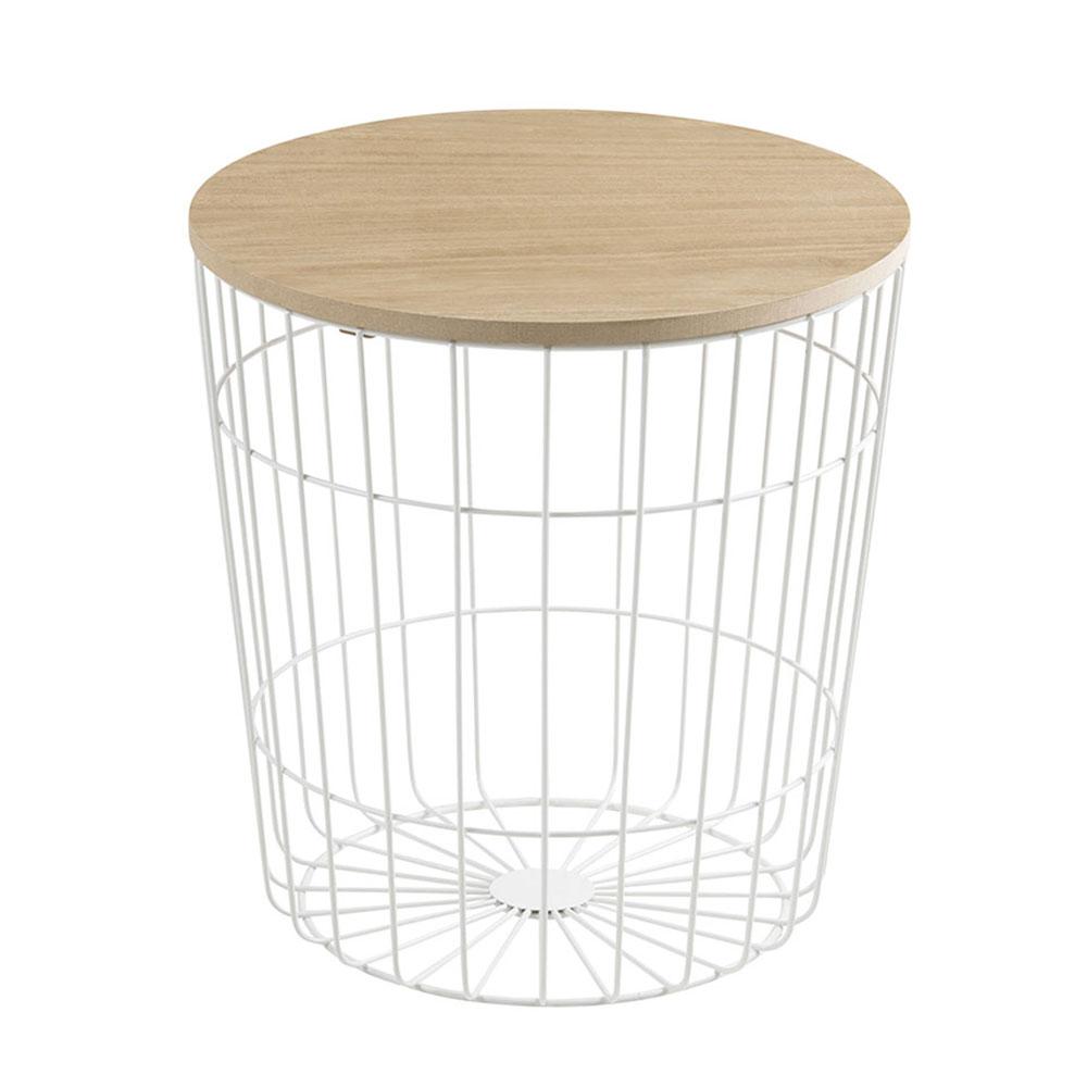 Konferenčný stolík Pavola, 39 cm, biela, biela