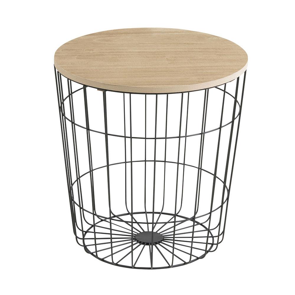 Konferenčný stolík Pavola, 39 cm, čierna, čierna