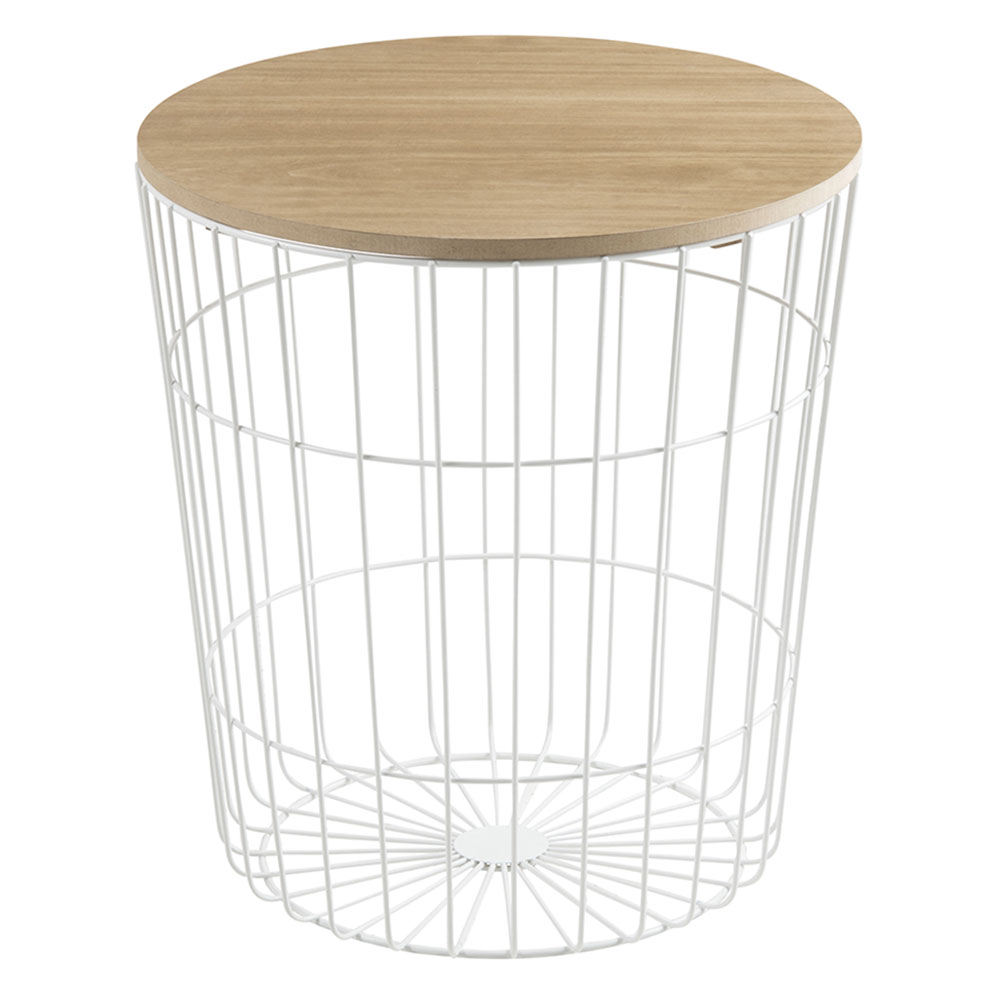Konferenčný stolík Pavola, 43 cm, biela, biela