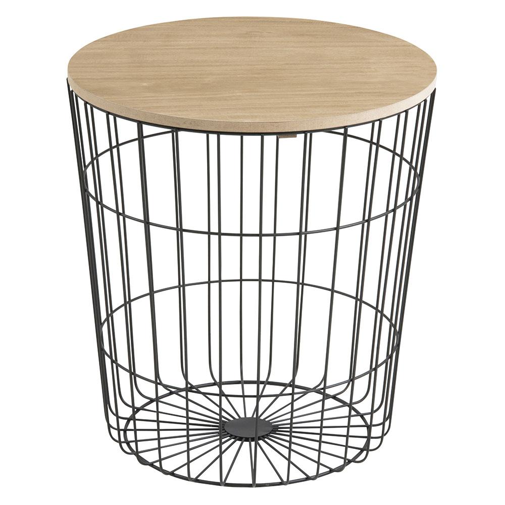 Konferenčný stolík Pavola, 43 cm, čierna, čierna