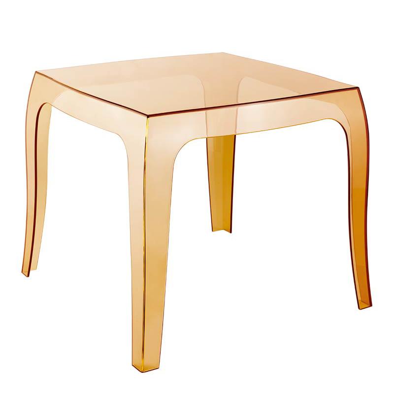 Konferenčný stolík Prince, 50 cm, transparentná