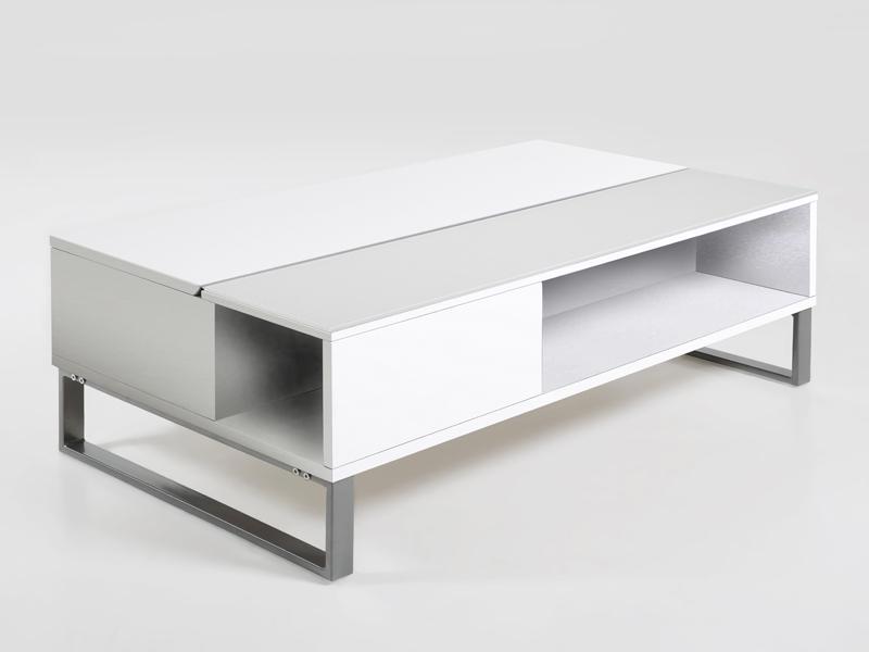 Konferenčný stolík Rosemary, biela, biela