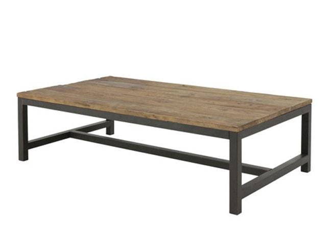 Konferenčný stolík s drevenou doskou Harvest, 120 cm, jilm