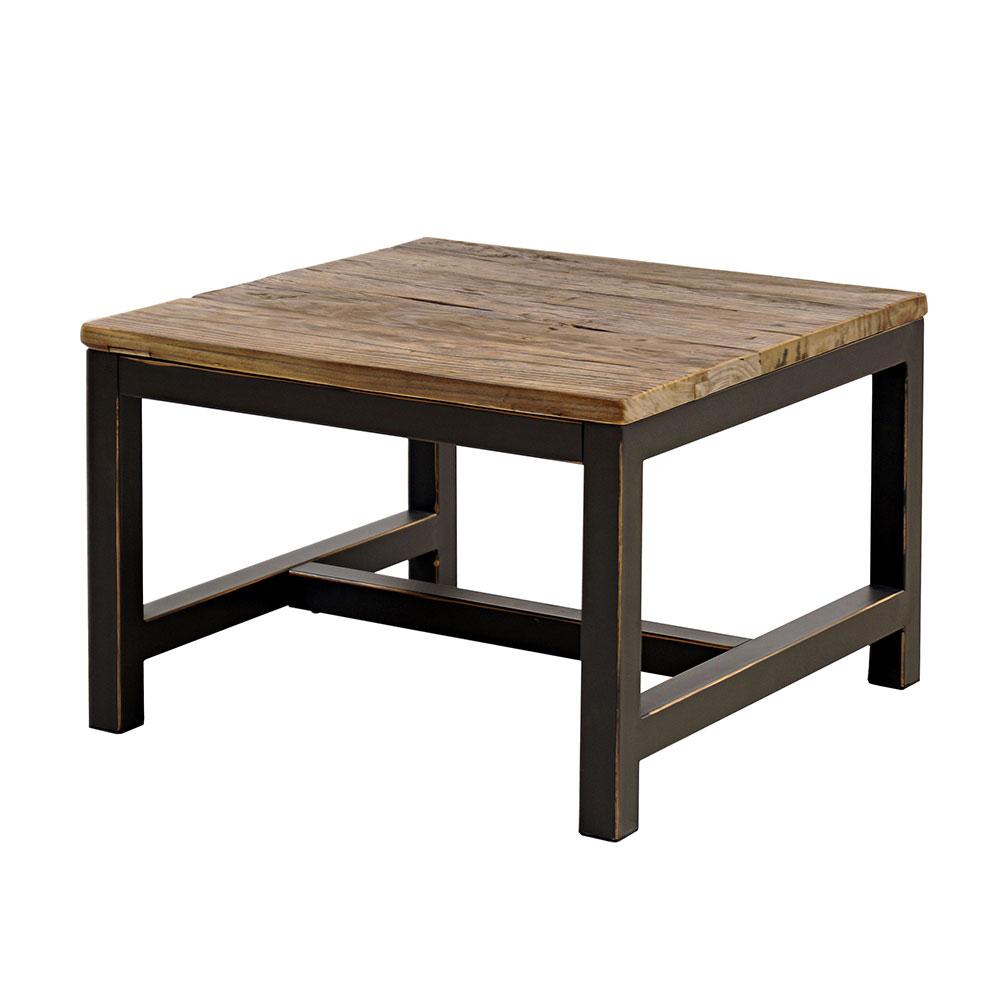 Konferenčný stolík s drevenou doskou Harvest, 60 cm, jilm
