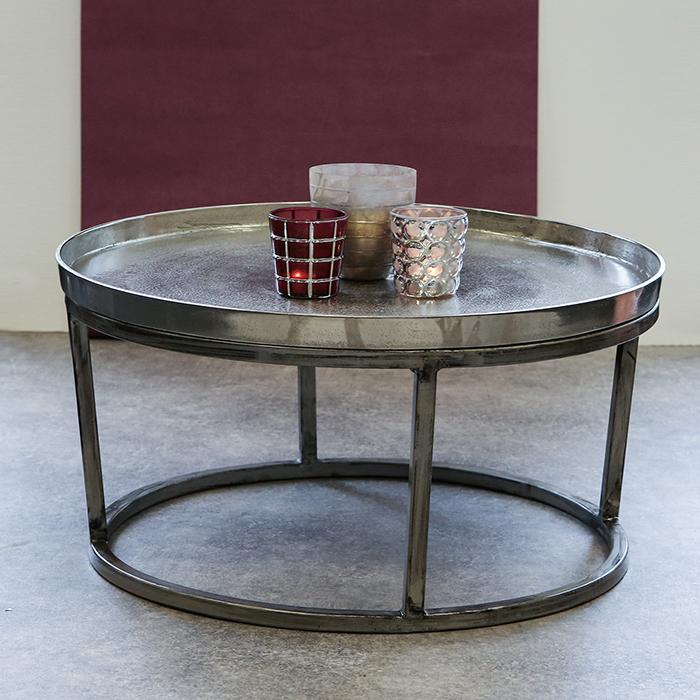 Konferenčný stolík s hliníkovou doskou Raw, 70 cm, hliník / antracit