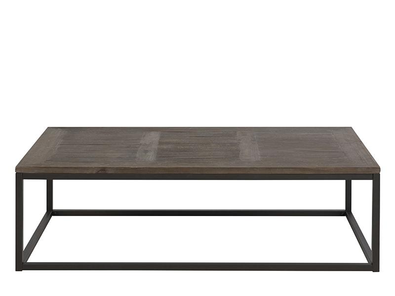 Konferenčný stolík s masívnou doskou Rocky, prírodné drevo