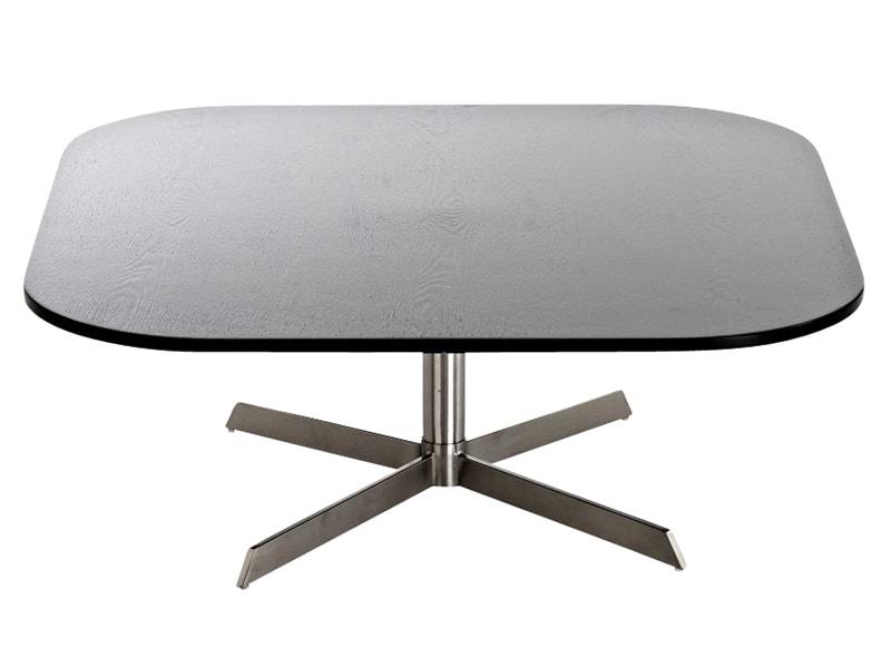 Konferenčný stolík s nerezovou podnožou Arta, 90 cm čierna, čierna