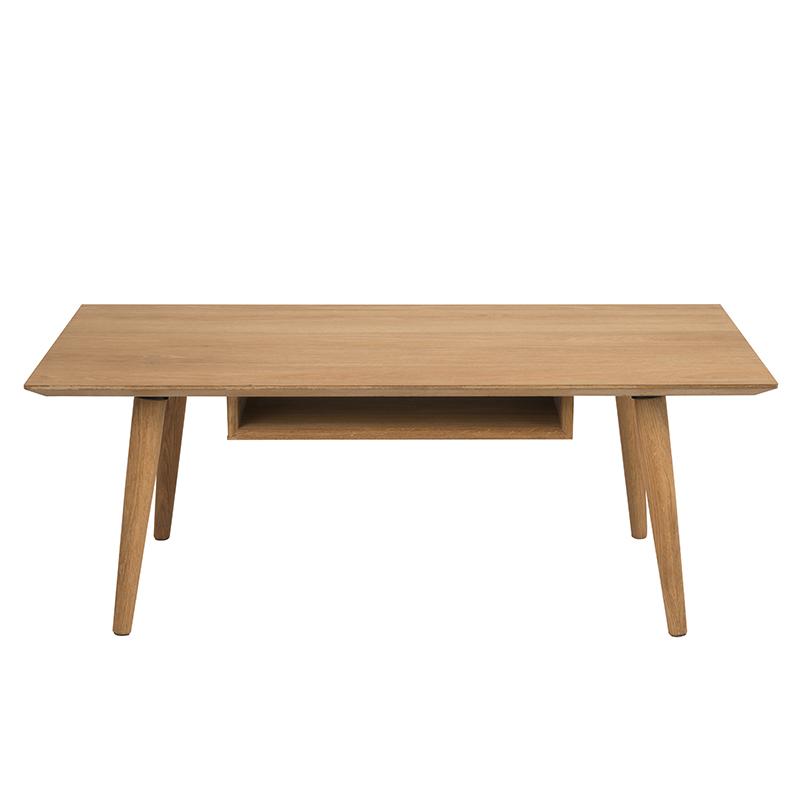 Konferenčný stolík s poličkou Celia, 120 cm, dub