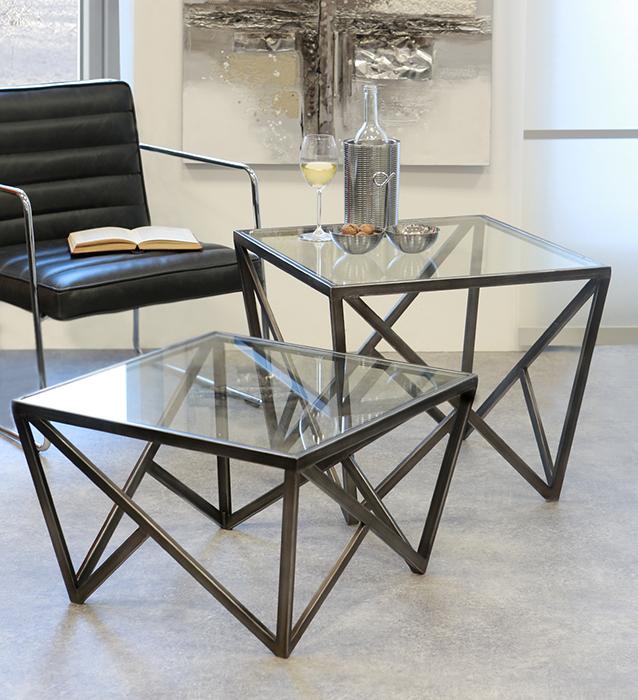 Konferenčný stolík sklenený Loft vysoký, 60 cm, antracit
