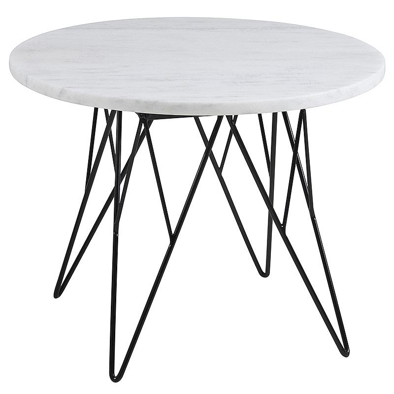 Konferenčný stolík Stark, 55 cm, mramor, mramor / čierna